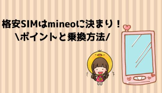 格安SIMはmineo(マイネオ)に決まり!私がmineoにしたポイントと乗換方法
